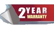 2 years warranty
